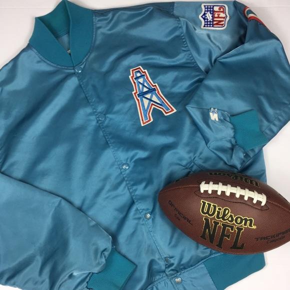7191f2a3 Vintage 90s NFL Houston Oilers Starter jacket XL